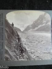 STA051 Mer de Glace Chamonix Alpes France 1900 STEREO albumen Photo Stereoview