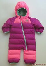 NEW $150 NORTH FACE INFANT GIRLS LIL SNUGGLER DOWN SUIT 3-6 MONTHS SNOW BUNTING