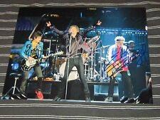 Mick Jagger Keith Richards Ronnie Wood Rare Signed Photo 8x10 COA
