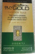 Noble Mint sealed   Bullion Bar  .999  pure gold  24 ct  gold x 1