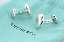 Tiffany & Co. 1999 Sterling Silver 925 Classic Dome Bubble Mens Shirt Cufflinks