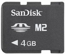SANDISK 4GB MEMORY STICK MICRO ( M2 ) CARD
