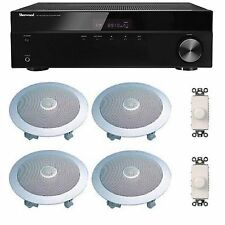 HOME AUDIO SOUND SYSTEM- FLUSH IN-CEILING SPEAKERS FOR 2+ ROOMS