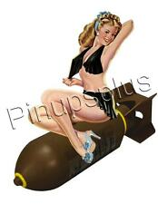 Sexy Pinup Bomber Girl Nose Art Waterslide Decal gives a painted on look S614
