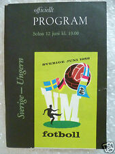 1958 World Cup Finals Programme Sweden v Hungary, 12 June (Org*, Exc*)