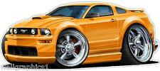 2005-9 Ford Mustang Coyote Cartoon Cars Wall Graphic Decal Vinyl Cling NEW
