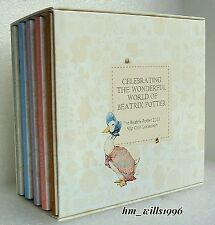 2016 Fifty Pence 50p Beatrix Potter Peter Rabbit FULL SET 5 Coin Box Set