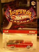 Hot Wheels Larry's Garage Real Riders Tires 56 Chevy #2 of 20 Red / Gray