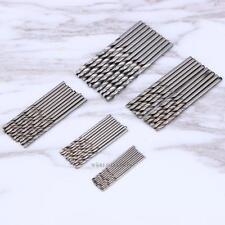 50 × Mini HSS High Speed Steel Twist Drill Bit Set Tool for Wood Aluminum coated