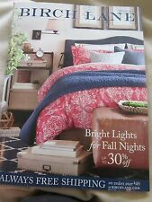 BIRCH LANE CATALOG EARLY FALL 2015 BRIGHT LIGHTS FOR FALL NIGHTS BRAND NEW