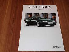 Opel Calibra Sondermodell Classic Prospekt von 2.1995  ... 2.0 - V6 - Turbo