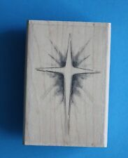 NEW Inkadinkado 'Christmas Star' Wooden Backed Rubber Stamp 99629LL