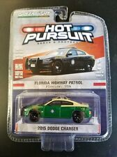 GREENLIGHT 1:64 HOT PURSUIT 2015 DODGE CHARGER FLORIDA HIGHWAY PATROL CHASE CAR