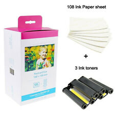 Canon KP-108in Selphy CP KP Photo Printer Compatible Ink and Paper Set 4 X 6""