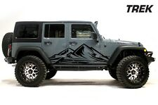 Jeep Wrangler Rubicon Custom Vinyl Graphics Decal 2/4 Kit 2007-2016 TREK