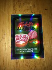 2014 WACKY PACKAGES CHROME REFRACTOR CARD KOOLOFF'S ALL-BRAIN ZOMBIE CEREAL 58