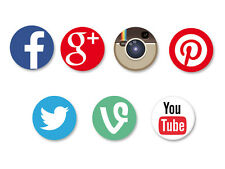 Lot Pack Badge Button Ø25mm Réseaux Sociaux Web 2.0 The Social Media Network
