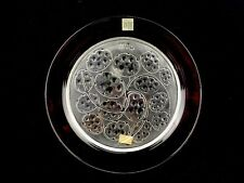 1974 Lalique France Crystal Art Glass Annual Collector Plate Silver Pennies