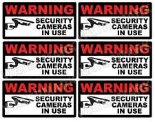 CCTV VIDEO SURVEILLANCE Security Burglar Alarm Decal Warning Sticker Signs X 6
