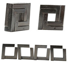 Great Alloy Square Lock Puzzle Brain Tester Kids Adults Intelligent Toys HU