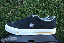 CONVERSE ONE STAR NUBUCK OX SZ 10.5 BLACK ASH GREY WHITE 153717C