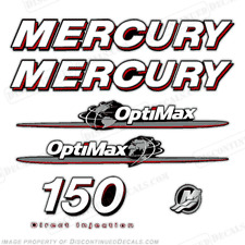 Mercury 150hp Optimax Outboard Engine Decal Kit 2007 - 2008 Decals in Stock