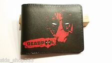 NEW THINNER DESIGN DEADPOOL BlaCK ! bi fold wallet X-Men Marvel Comics US Seller