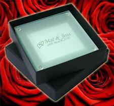 100 Personalised Glass Coasters great wedding favours