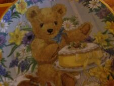 """""""A TEDDY'S EASTER TREAT"""" BY SARAH BENGRY  FRANKLIN MINT COLLECTOR PLATE"""
