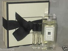 NEW JO MALONE ENGLISH PEAR & FEESIA BATH OIL, 1OZ/30ML + 2 PERFUME SAMPLE VIALS