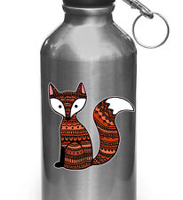 "CLR:WB - Patterned Fox Cute Vinyl Decal for Reusable Water Bottle ©YYDC(3""x3"")"