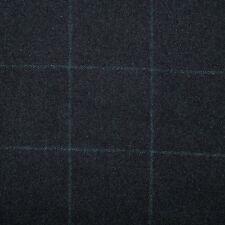 Noir avec vert carreaux flanelle S100's tous laine drap - 3.50 mtrs
