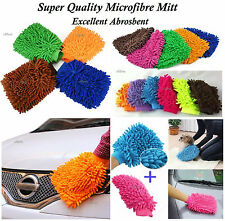 MICROFIBRE CAR WASH WASHING CLEANING MITT GLOVE POLISHING SHAMPOO DUSTER CLOTHES