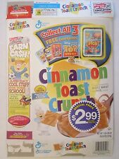 CINNAMON TOAST CRUNCH Cereal Box 2000 TOY STORY 2 Card Game WHEN PIGS FLY 20 oz