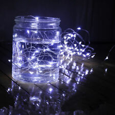 5M 50LED Button Cell Battery Powered Silver Copper Wire Mini Fairy String Lights