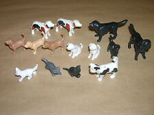 LOT PLAYMOBIL / 14 CHIENS, CHIOTS, CHATS / LOT 3 / TRES BON ETAT