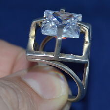 VINTAGE Russian USSR BIG Women's RING STERLING SILVER 925 SIZE 10 Super RARE