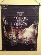 Tim Burton's Nightmare Before Christmas Fabric Wall Scroll Disney Movie Poster
