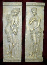 Danaides Argos Greek Wall Home Decor Plaque Pair Cameo 23050