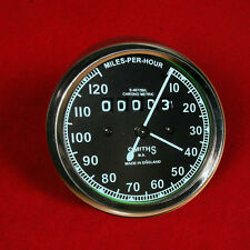 Speedometer Royal Enfield Motorcycle 0-120 MPH Black