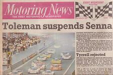 Ayrton Senna Suspended by Toleman 1984 Motoring News Complete and RARE