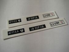 Corgi  271 James Bond DB5  Number Plates [ White  ] Sticker Decals