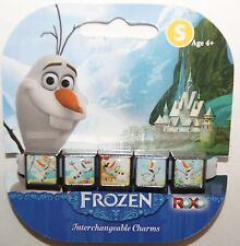 Disney Frozen SM Interchangeable 5 Charm Bracelet Olaf  NEW