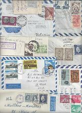 GREECE 1930s 50s COLL OF 9 COMMERCIAL COVERS VARIOUS FRANKINGS