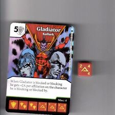 DICE MASTERS AMAZING SPIDER-MAN UNCOMMON #87 GLADIATOR KALLARK CARD WITH DICE