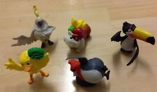 5 UK MCDONALDS RIO TOY FIGURES - CAKE TOPPER DOG & BIRDS 2011