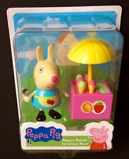 Peppa Pig Rebecca Rabbit's Ice Cream Stand Figures Cake Toppers New