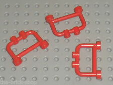Barrieres LEGO red fence 4083 / Set 6390 6346 10041 6561 7735 6363 6505 ...