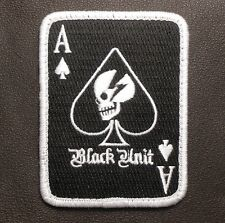 BLACK UNIT DEVGRU SKULL ARMY GEAR OPS ACE OF SPADES SWAT VELCRO® BRAND PATCH