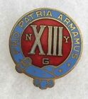 WWII 13TH RGT DI OF NY STATE GUARD PIN BACK MARKED NEWCOME & CO